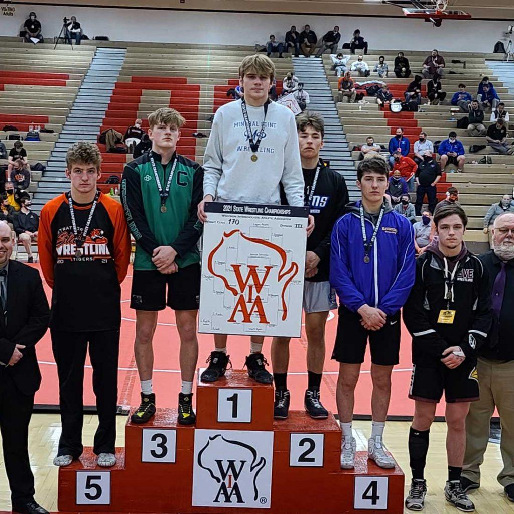 Nolan Springer 170 lb. WI state wrestling champion